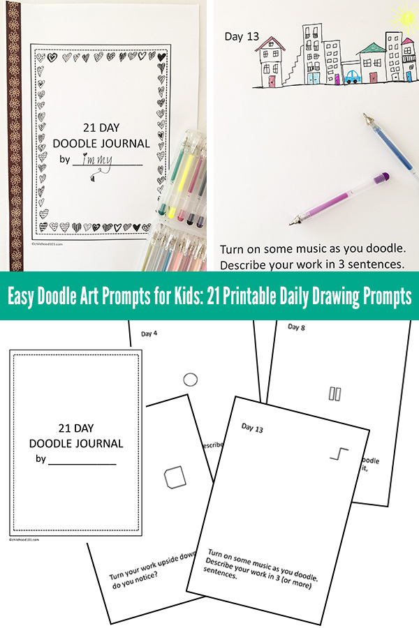 Easy Doodle Art Prompts for Kids 21 Printable Daily Doodle Prompts
