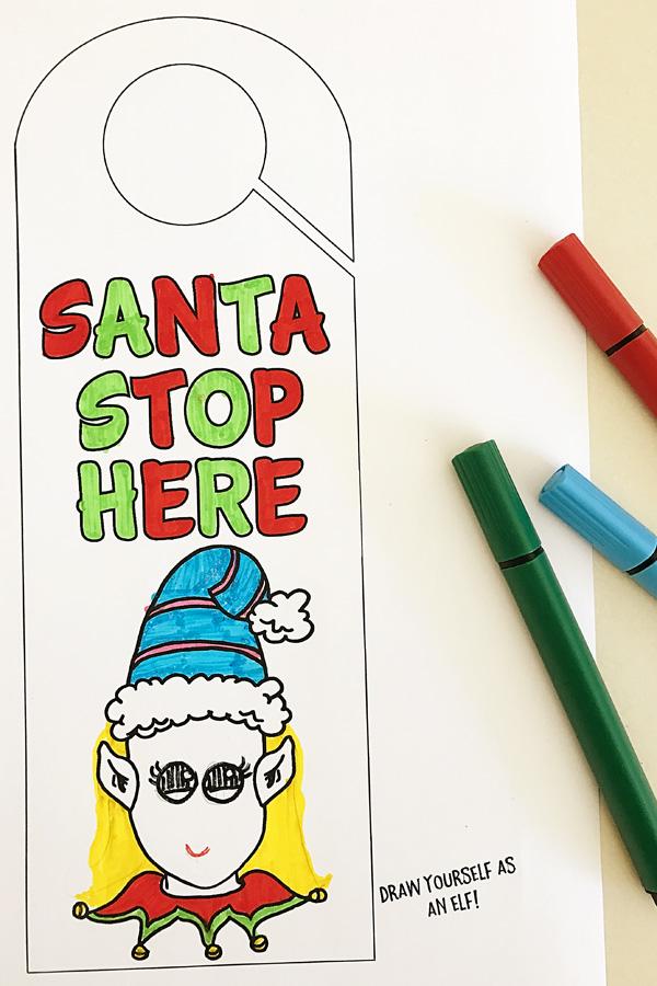 Printable Christmas Door Hanger Craft