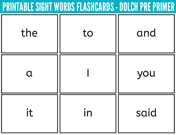 Sight Words Flash Cards Dolch Sight Words Free Download - flash cards words