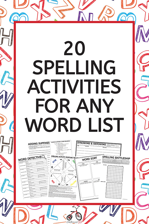 Spelling Activities Graffiti Wall Free Spelling Printable