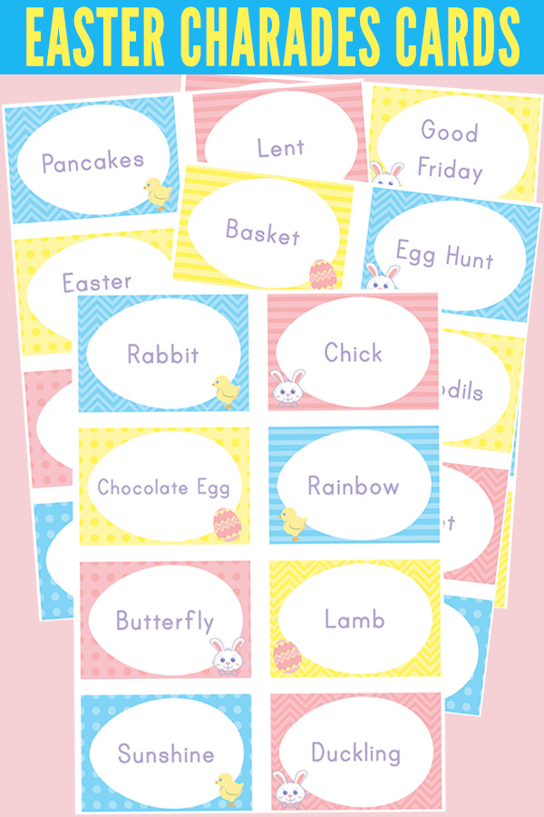 Easter Charades Printable Charades Cards for Kids