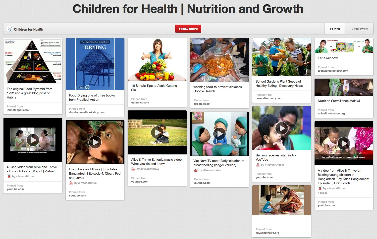 Tv Board Pinterest Children For Health S Pinterest Board