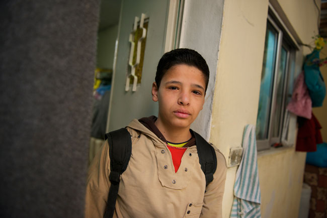 Adnan gets ready to head to school. He is good at math and wants to be an engineer.  ©UNICEF/Jordan-2013/Noorani