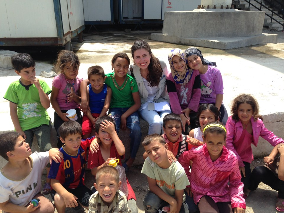 Saying good bye to the new friends I made at the Sports City. ©Al-Bustan NGO.