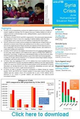CORRIGENDUM-UNICEF-Syria-Sub-regional-Humanitarian-SitRep,-June-2015-1