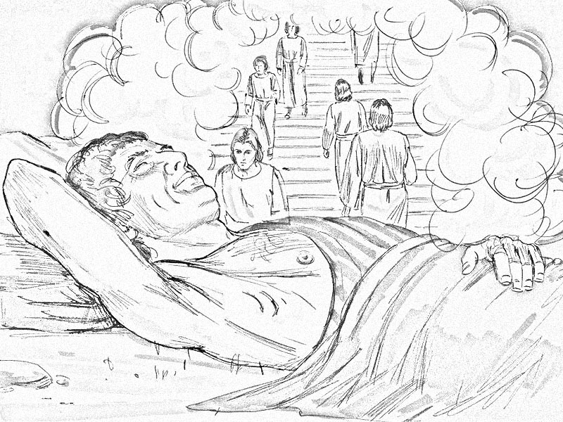 Jacob Ladder To Heaven Coloring Page