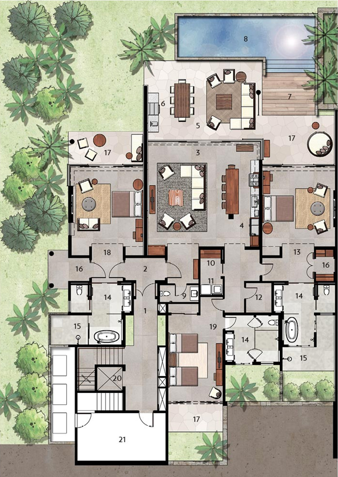 villa floor plan