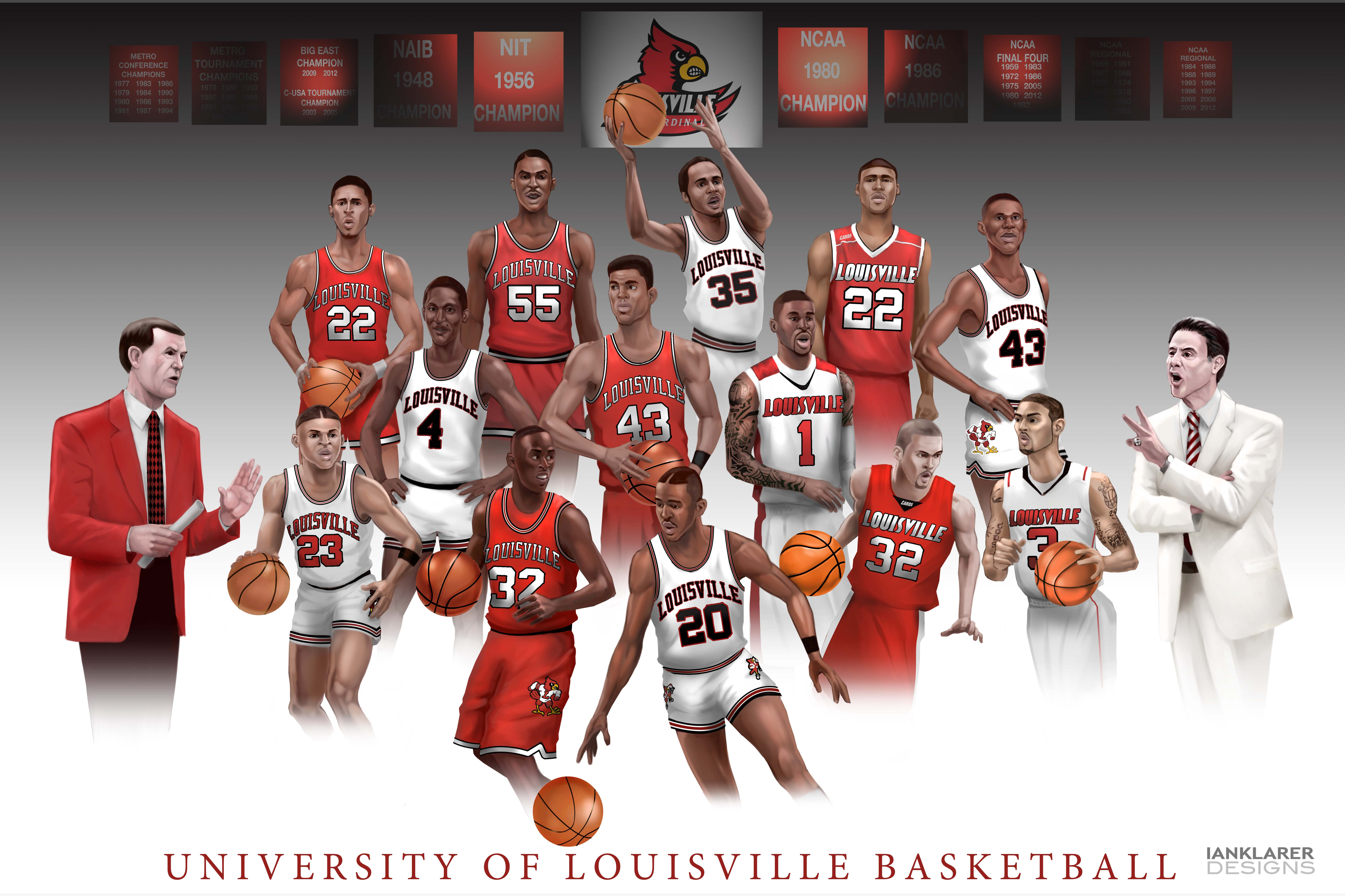 Wallpaper Louisville The Art Of Ian Klarer U Of L Basketball Wallpaper Chillville502