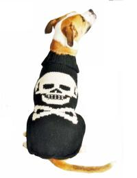 Black Skull Dog Sweater - Chilly Dog Sweaters