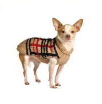 Tan Plaid Dog Sweater - Chilly Dog Sweaters