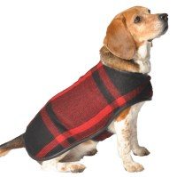 Green and Black Plaid dog Blanket Coat - Chilly Dog Sweaters
