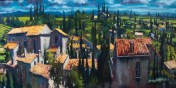 'Carcassonne Landscape' by Dave West at the Chimera gallery, Mullingar, Co Westmeath, Ireland