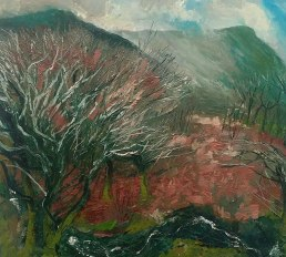 """"""" Smouldering Hills"""" by Neal Greig at the Chimera Gallery, Mullingar, Co Westmeath, Ireland"""