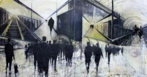 'Below Ground Paddington'  by Lesley Oldaker