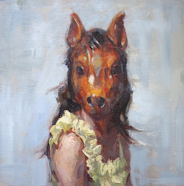 'Horse Woman' by Jennifer Balkan at the Chimera Gallery, Mullingar, Co Westmeath, Ireland