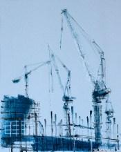 'Building Site V' by Helen Shulkin at the Chimera Gallery, Mullingar, Co Westmeath, Ireland.