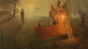 'Park Bench Departures' by Bradley Gray