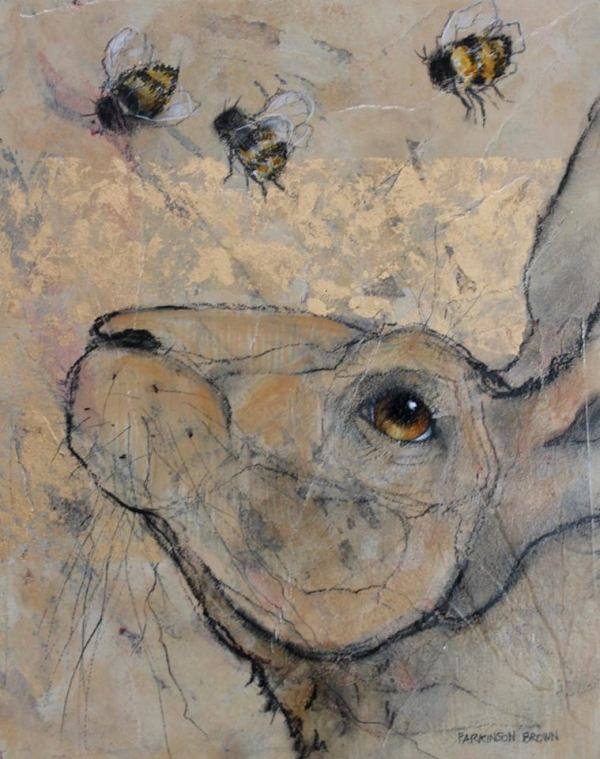 'Hare and Bees' by Sylvia Parkinson Brown at the Chimera Gallery , Mullingar , County Westmeath, Ireland