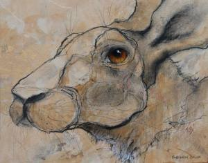 'Hare on Gold' by Sylvia Parkinson Brown