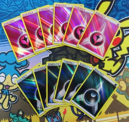 Using Pokemon Energy Cards