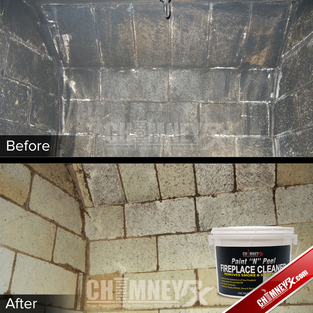 Cleaning A Fireplace Chimney Rx Paint N Peel Fireplace Cleaner Chimney Rx
