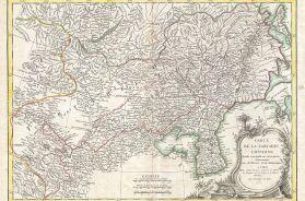 Bonne Map of Chinese Tartary, Mongolia, Manchuria and Korea (Corea)