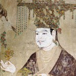 Detail of a portrait of a Khotan King, from Dunhuang Mogao Caves, Five Dynasties (907 - 979 A.D)