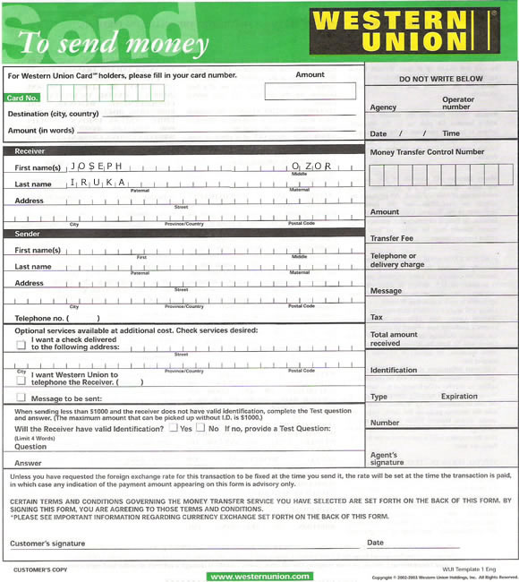 Credit Report Requests Creditinfo Kenya Western Union To Transfer Money Form Example