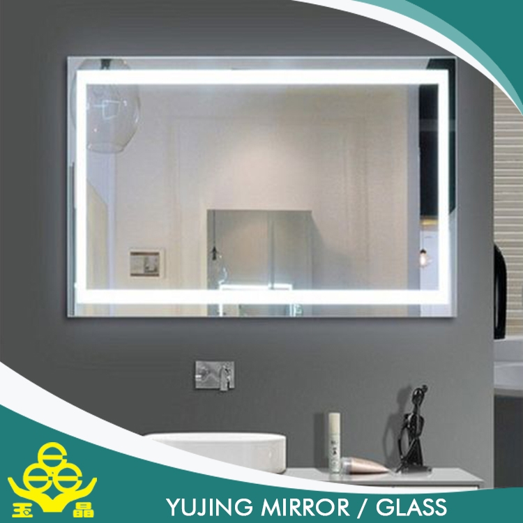 Frameless Mirror In Bathroom Touch Screen Illuminated Backlit Led Mirror Bathroom