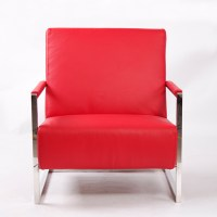 Leather Armchair|Stainless Steel Furniture