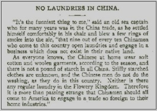 Why Chinese Laundries?