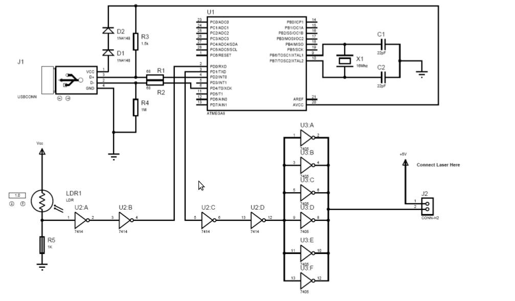 usb interface schematic