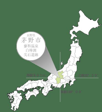 茅野市の紹介マップ