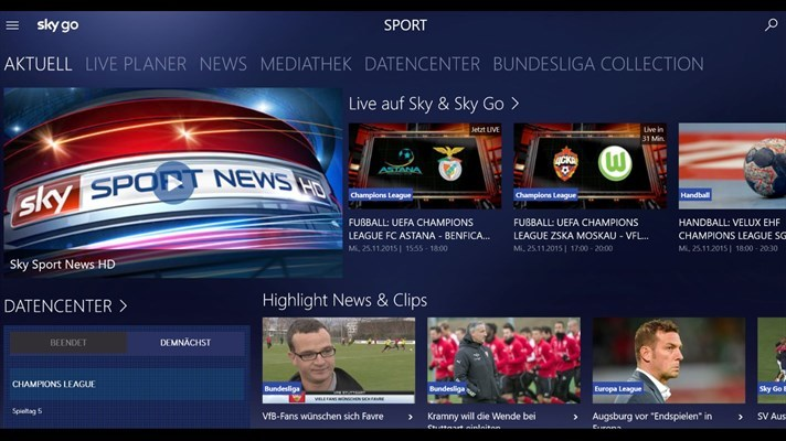 Tv Fernsehen App Android Sky Go - Windows 10 App - Download - Chip