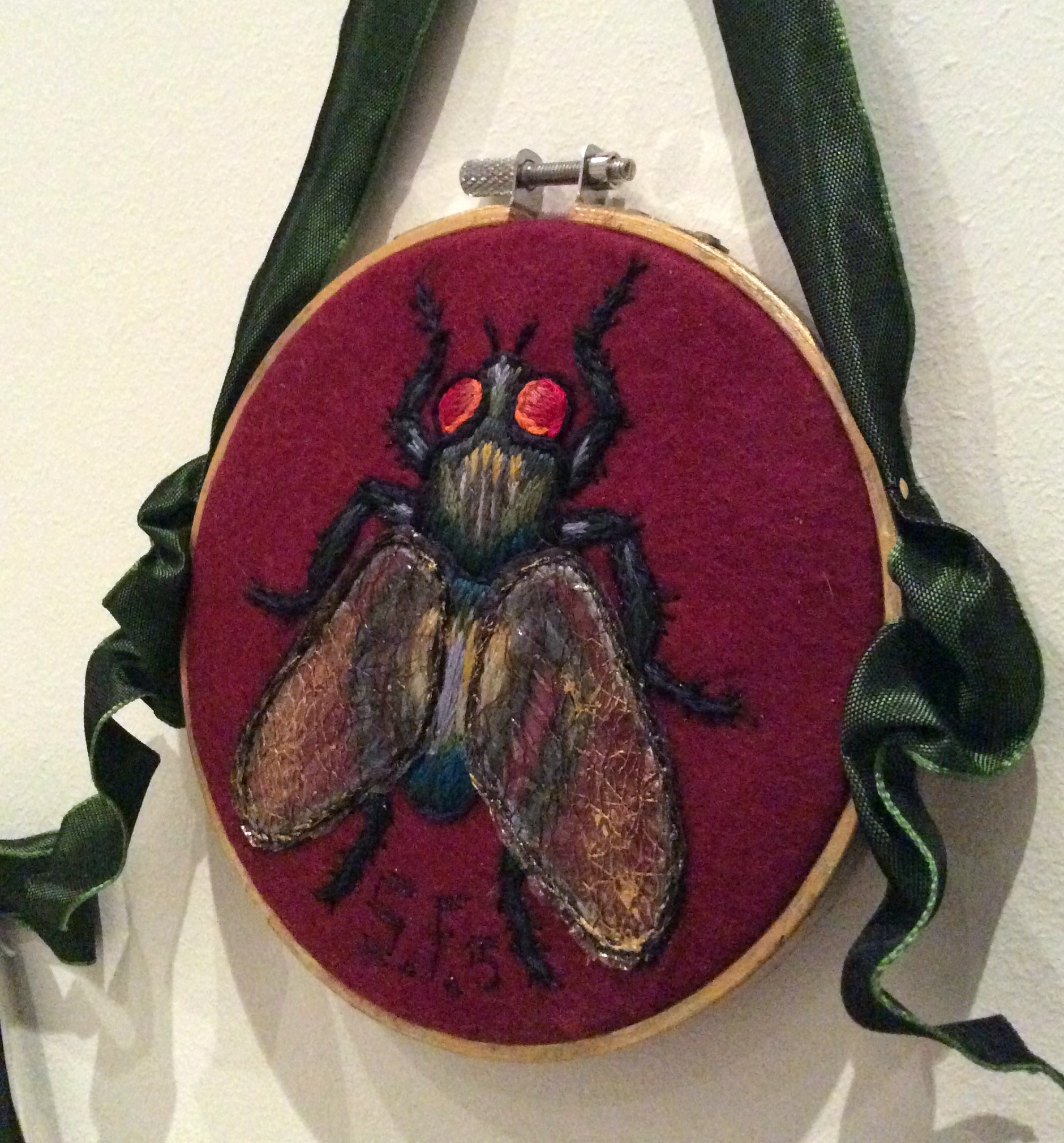 Mixed Media Embroidered Insects Suzanne Forbes