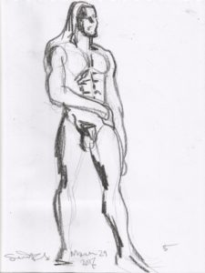 Life drawing 5 min 1 by Suzanne Forbes March 24 2017