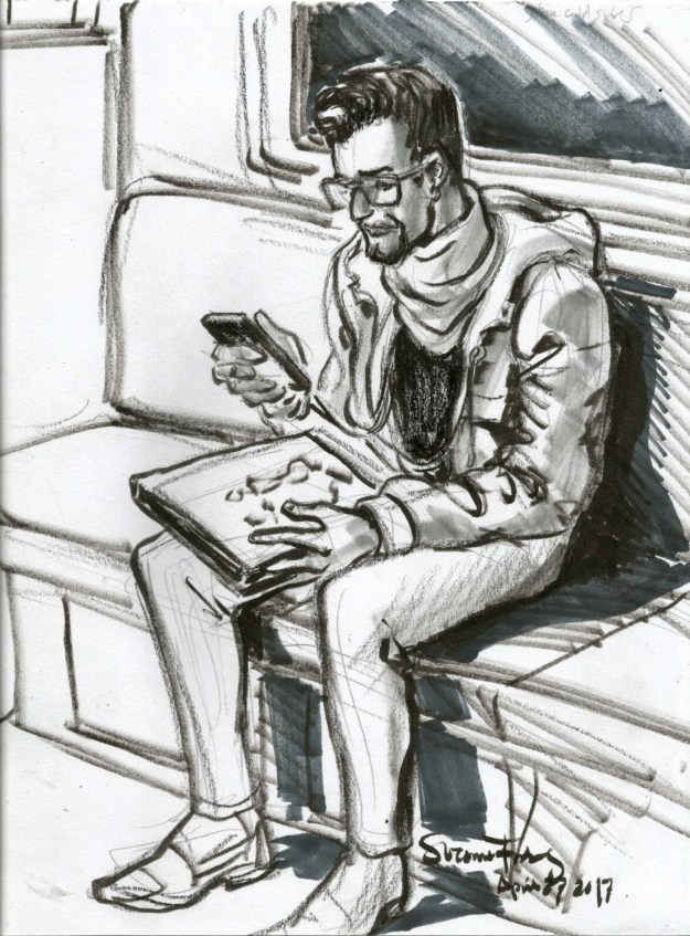 phone guy by Suzanne Forbes April 27 2017