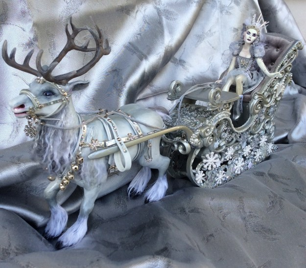 Snow Queen Jadis with carriage and reindeer by Suzanne Forbes May 2017