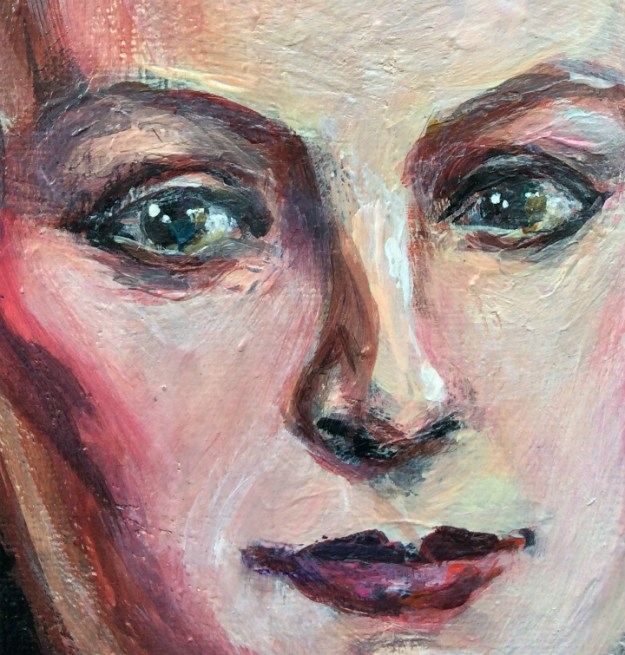 Portrait of Rah Hell by Suzanne Forbes Aug 2017 detail