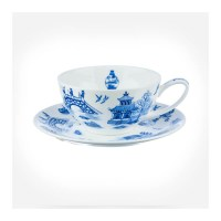 Oriental Blue Tea Cup and Saucer Gift Box - Tea For One