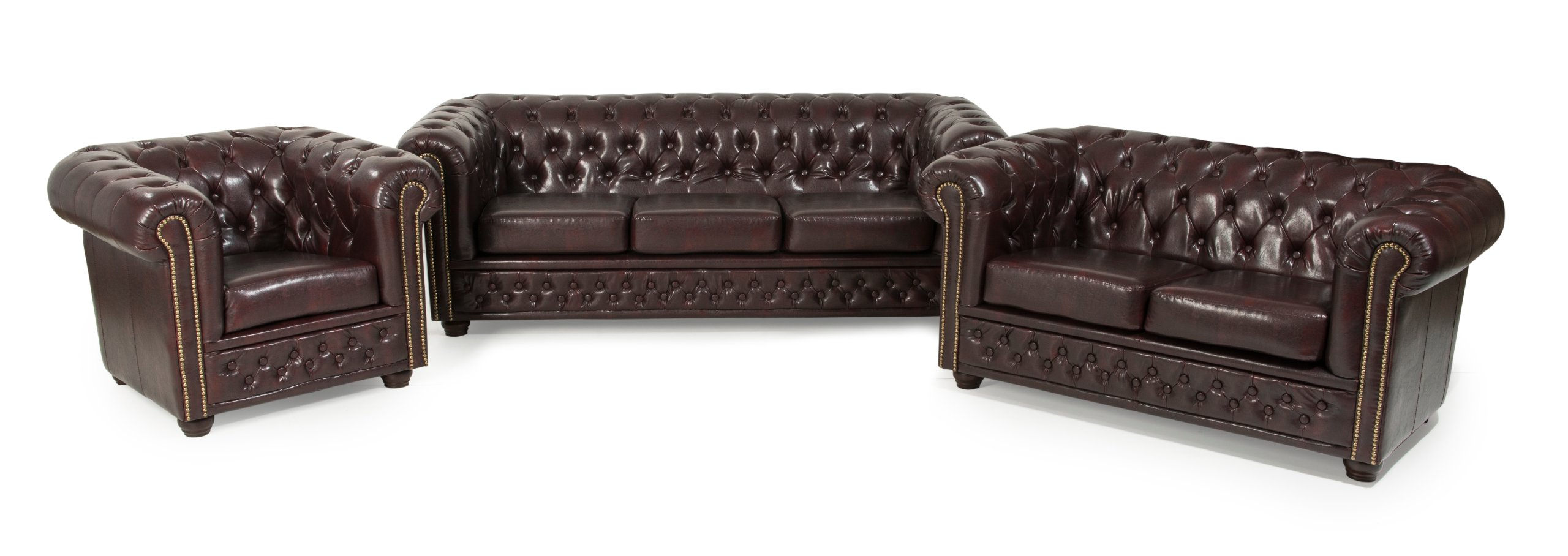 Lounge Sessel Wildleder Details Zu Chesterfield Sofa 3 2er Sitzer Sessel Hocker Bett Dunkelbraun Leder Look