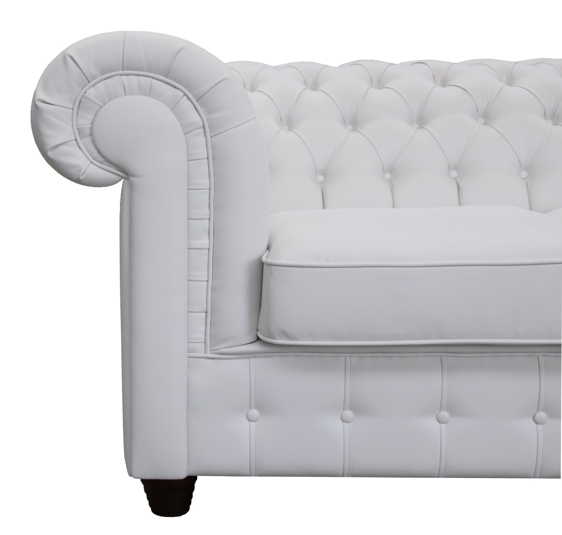 Chesterfield Sessel Weiss Empire Sessel