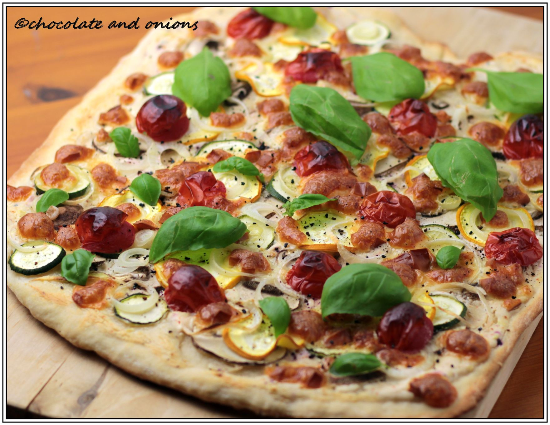 Vegetarische Pizza Vegetarische Pizza Molly Malone Chocolateandonions