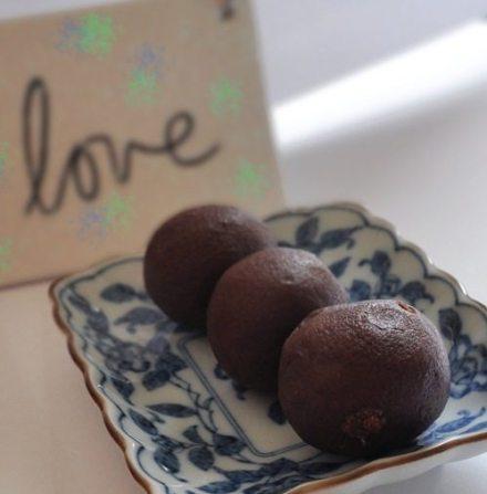 vegan gingerbread truffles