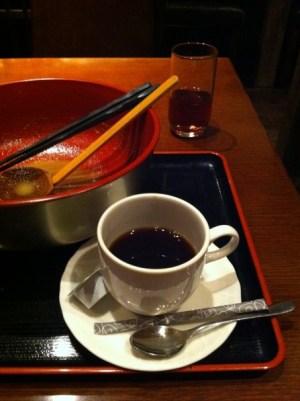 楠 カンフォーラ 食後コーヒー