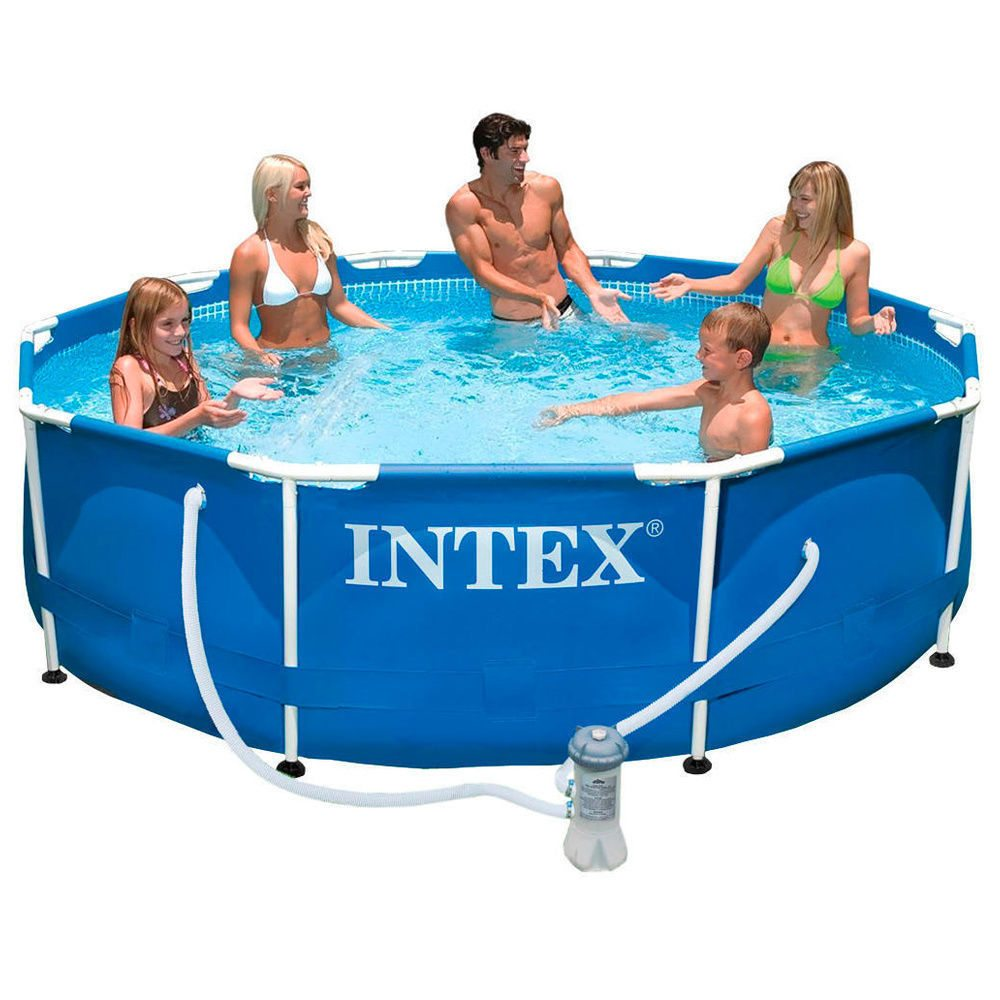 Piscinas Rigidas Chollo Piscina Desmontable Intex Metal Frame Con Depuradora Solo
