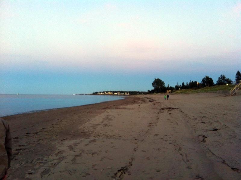 Empty Atlantic Ocean beach