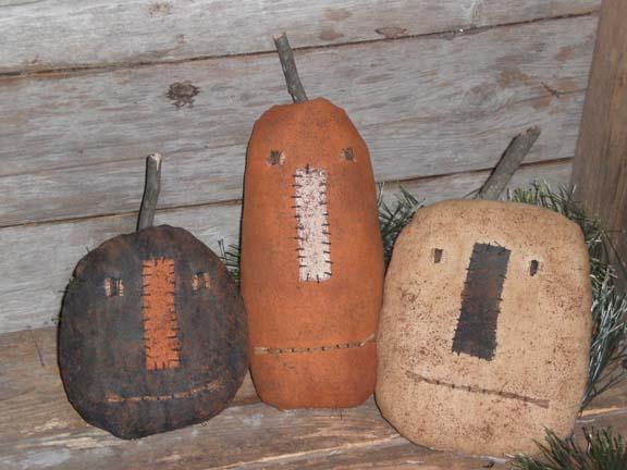 Primitive Halloween Pumpkins