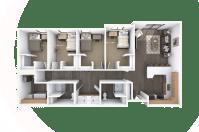 Student Housing Floor Plan Design