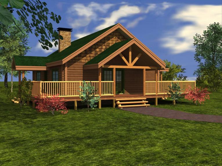 Crystal Lake Log Home Custom Timber Log Homes